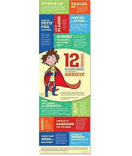 Affiche 12 stratégies de super héros pour mieux gérer ton anxiété