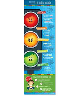 Affiche Rouge, jaune, vert : je maîtrise ma colère