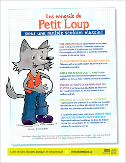 Les conseils de Petit Loup pour une rentrée scolaire réussie!