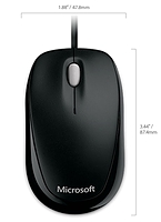 Souris Compact Optical 500 Microsoft ambidextre