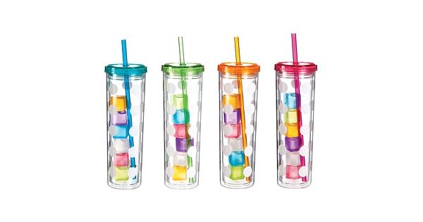 Grand verre multicolore pois avec gla ons cypress for Boutique article cuisine