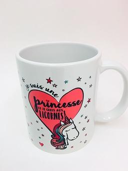 LICRONES TASSE CAFÉ JE SUIS UNE PRINCESSE ET JE CROIS AUX LICRONES!
