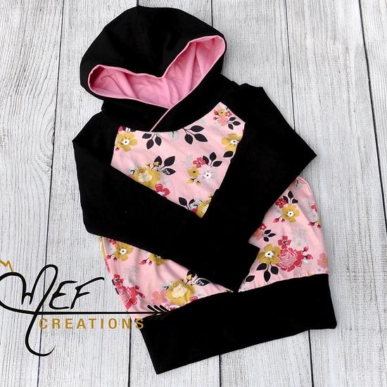 hoodie fleurs pour bébé, hoodie fleurs pour enfant, vêtement bébé ... 08eff25710c