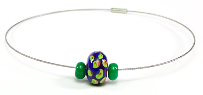 Bloup glass beads necklace - welmo studio - handmade in canada