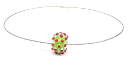 Bloup glass beads necklaces - welmo studio - handmade in canada