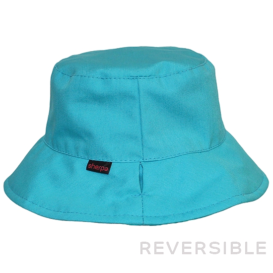 268a9cf2cff89 Reversible Hat Turquoise-Squares