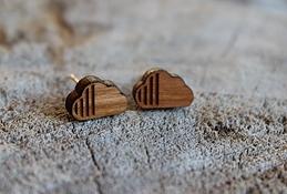 Boucles d'oreilles Julie Dupont Nuages en bois
