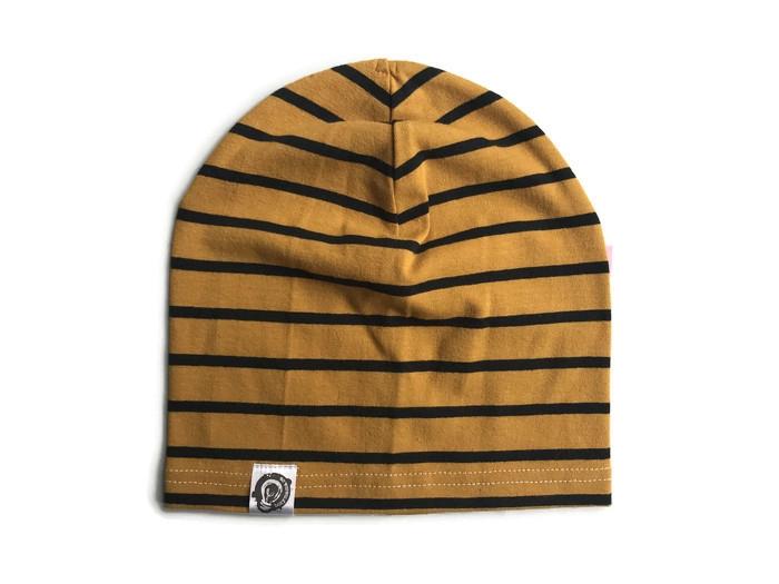 e2e6aa93439 Beanie in mustard jersey
