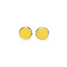 Boucles d'oreilles cuir jaunes