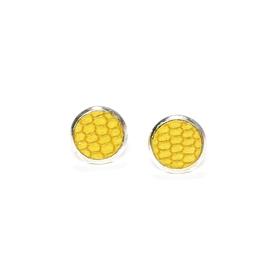 Boucles d'oreilles cuir maïs jaunes