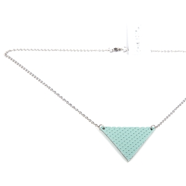 Collier court triangle Turquoise troué !