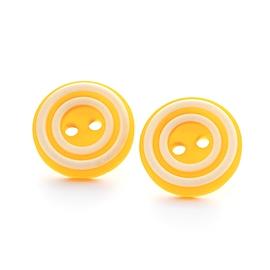 Boucles d'oreilles boutons jaunes