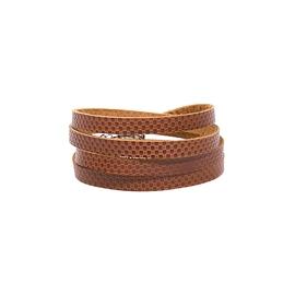 Bracelet femme 4 tours cuir brun
