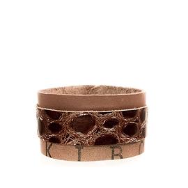 Bracelet homme cuir recyclé brun