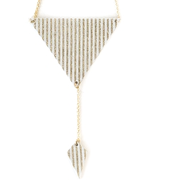 Collier court triangle - Bling Bling - ligné or