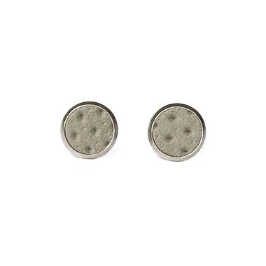 Boucles d'oreilles cuir grise