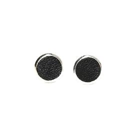 Boucles d'oreilles cuir noires