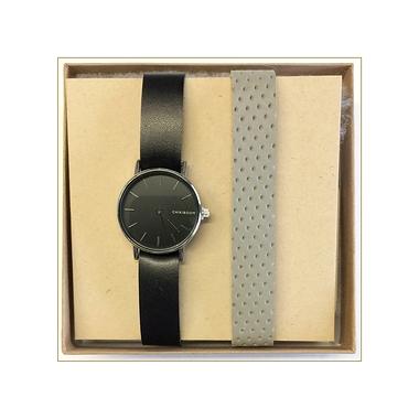 DUO de montres femmes noire ou grise