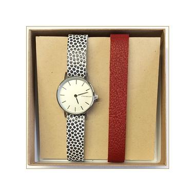 DUO de montres femmes rouge ou à pois gris