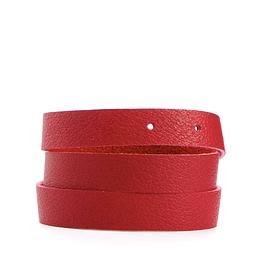 Bracelet femme enroulé cuir recyclé rouge