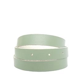 Bracelet femme enroulé cuir recyclé vert menthe