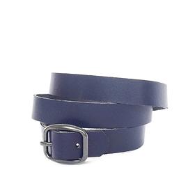 Bracelet femme enroulé cuir recyclé bleu marin