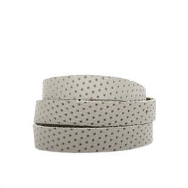 Bracelet femme enroulé cuir recyclé gris