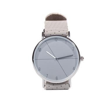 Grey leather men's watch
