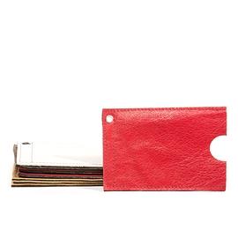 Pochette à cartes Rouge en cuir