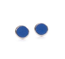 Boucles d'oreilles cuir bleu