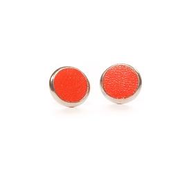 Boucles d'oreilles cuir orange