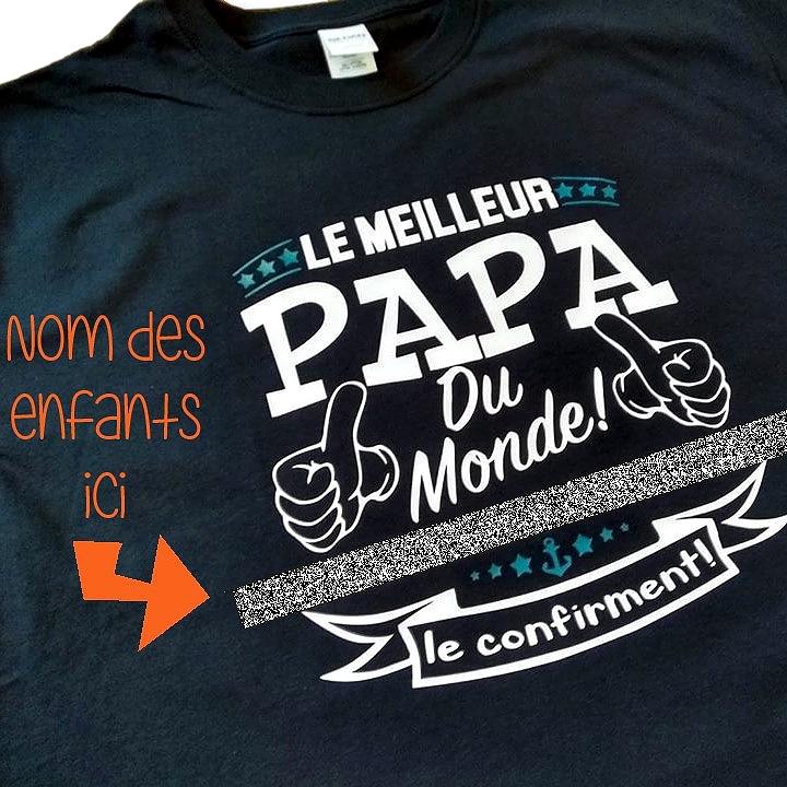 1668eb47c6654 Tshirt pour homme - Le meilleur papa du monde appartient à