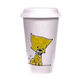Collection Anou Tasse de voyage chien jaune