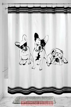 Rideau de douche French Bulldog