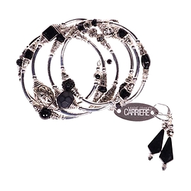 Bracelet Marie-France Carrière noir