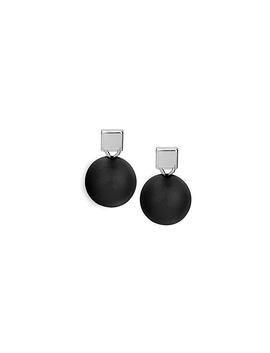 Boucles d'oreilles Caracol 2150 noir