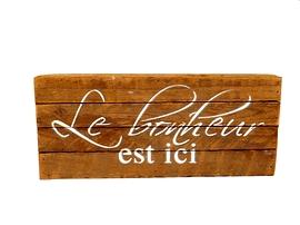 Affiche en bois Le Bonheur Est Ici 1