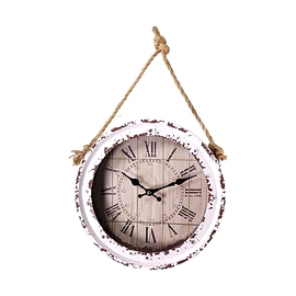 Horloge vintage blanche