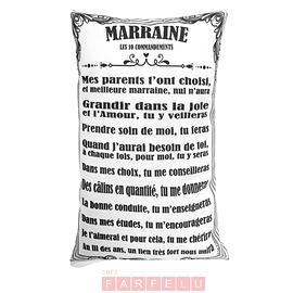 Coussin Marraine Les 10 Commandements...