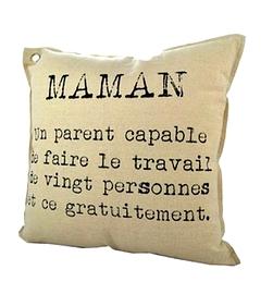 Coussin, texte maman