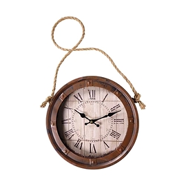 Horloge antique brune