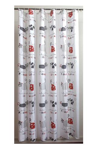 Grey Cat, Shower Curtain