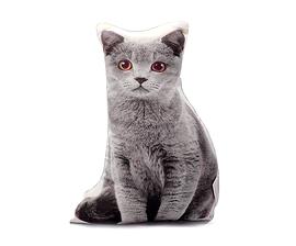 Butoir de porte Chat gris