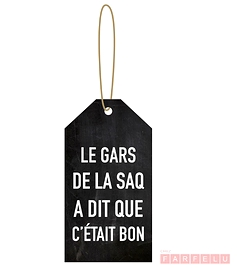 Étiquette à vin Le gars de la SAQ...
