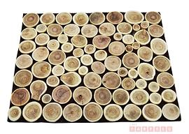 Rondins en bois, napperon