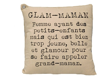 Coussin texte Glam-maman