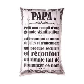 Coussin texte Papa