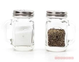 Pot Mason, salière et poivrière