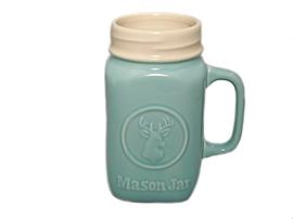 Tasse Mason en céramqie turquoise