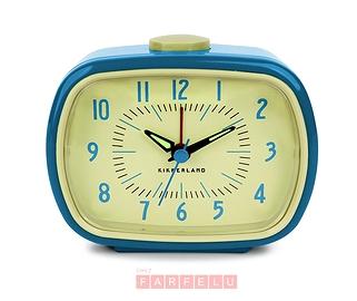 Horloge réveil Rétro bleu